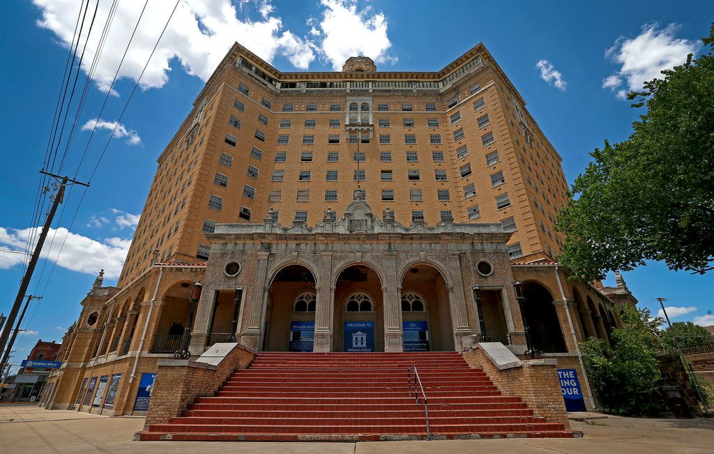The historic Baker Hotel in Mineral Wells opened in 1929 and has been closed since the 1970s.