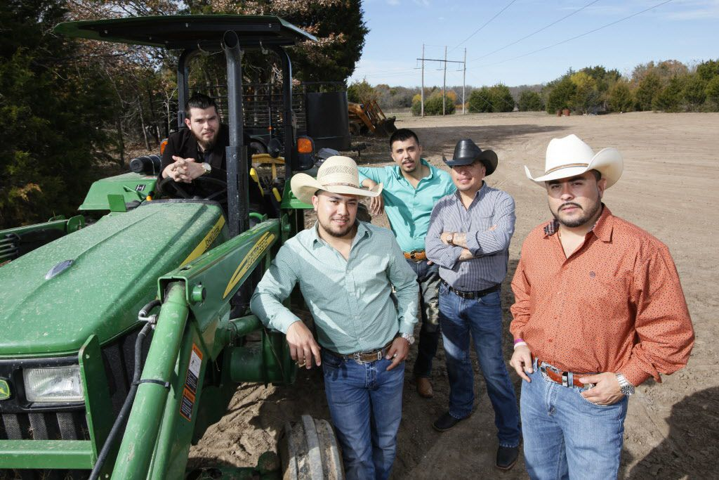 Mexican Norte–a band La Maquinaria Norte–a, on Dec. 09, 2015 at their ranch in Terrell.
