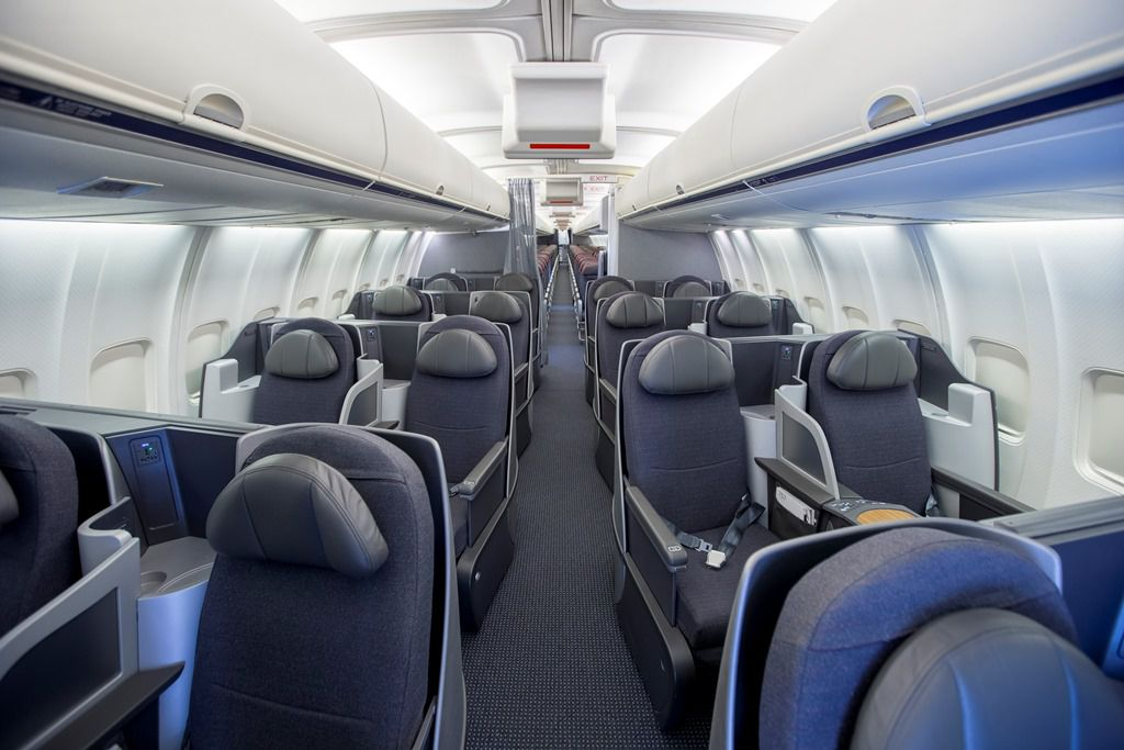 Take a look at the new interior on American Airlines