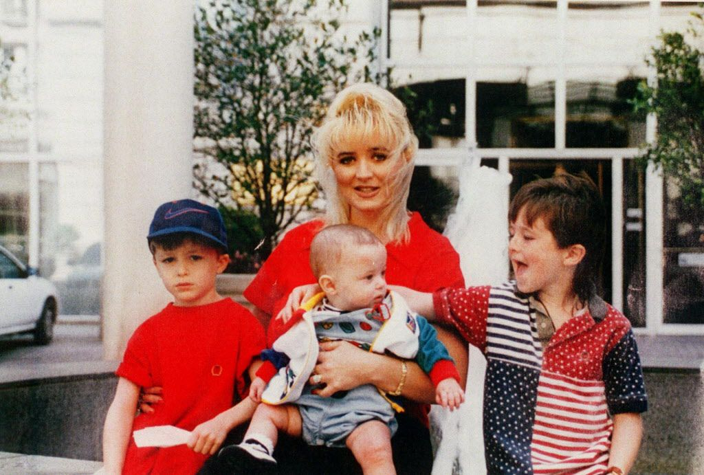 Darlie Routier and her sons (from left) Damon, Drake and Devon.