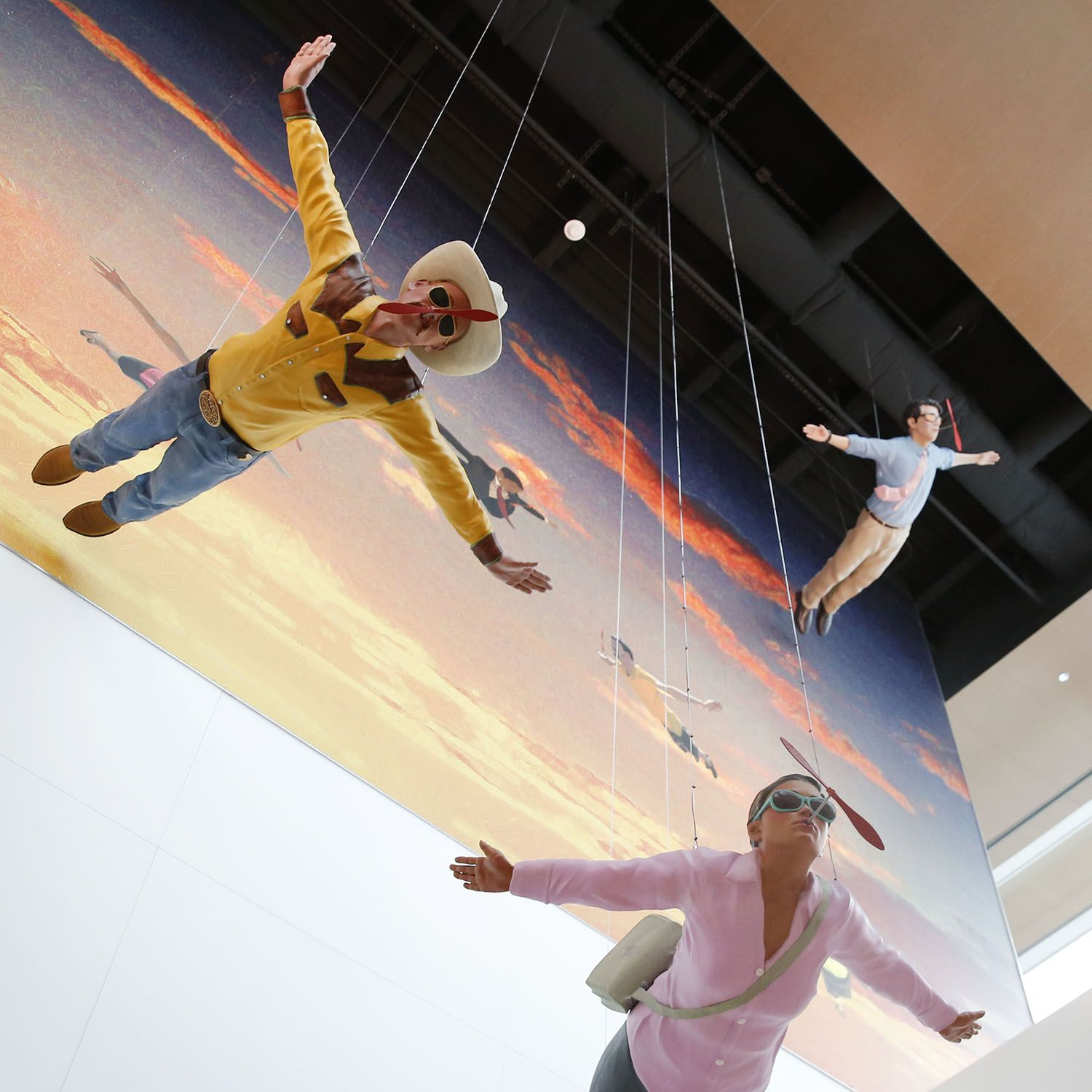 """""""Flying Dreams"""" by Simon Donovan at Dallas Love Field Airport's new Parking Garage C on Wednesday, Oct. 31, 2018."""