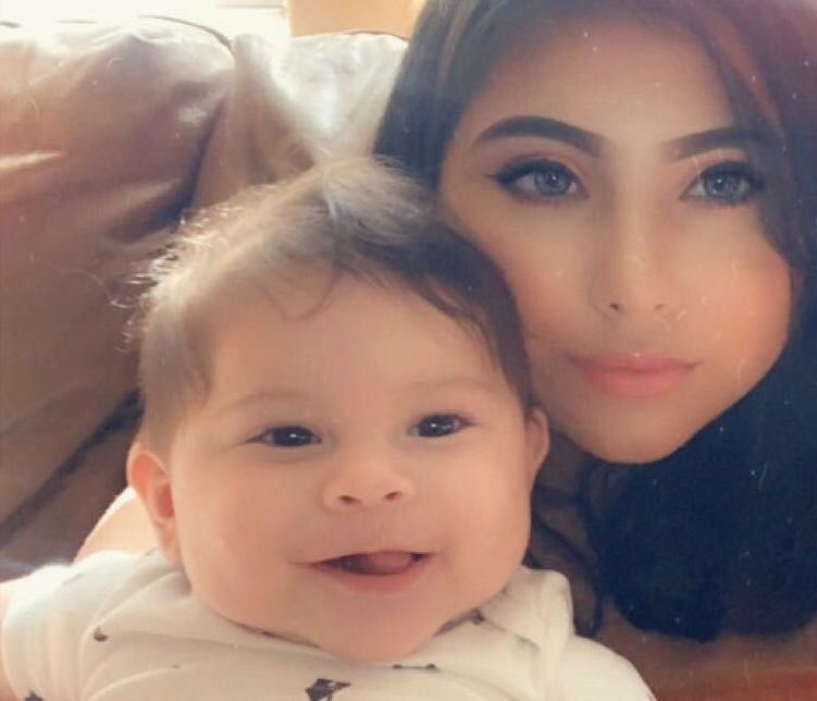 Rebecca Cruz, 20, and her young son, Jude, survived the EF-3 tornado that ripped through northwest Dallas on Sunday. Their apartment, however, suffered tremendous damage.