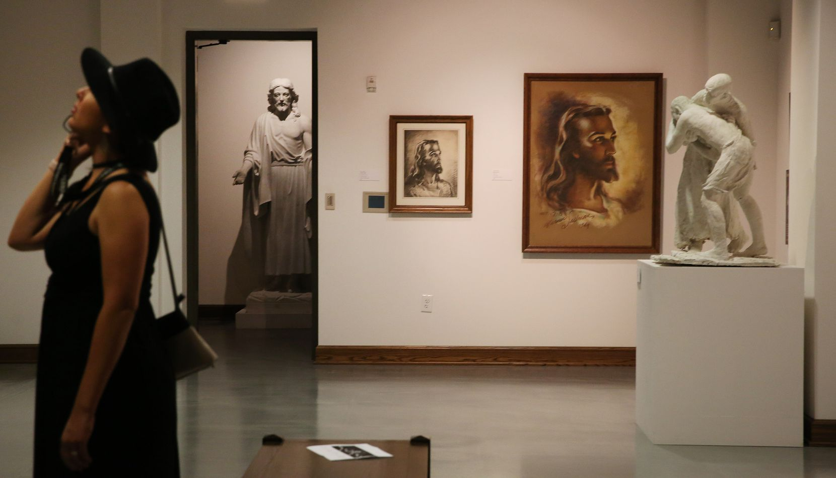 "The exhibit ""Faces of Christ"" at the Museum of Biblical Art in Dallas, features the work of artist Warner Sallman, who painted the widely reproduced Head of Christ."