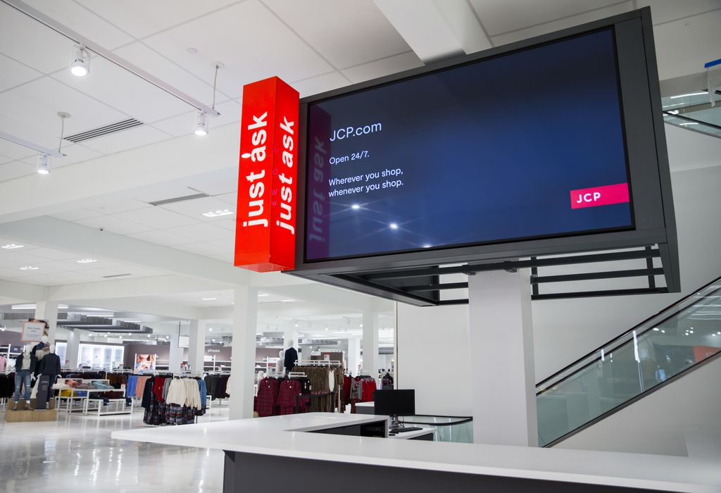 The customer service desk inside a JCPenney store on Wednesday, October 30, 2019 at North East Mall in Hurst. (Ashley Landis/The Dallas Morning News)