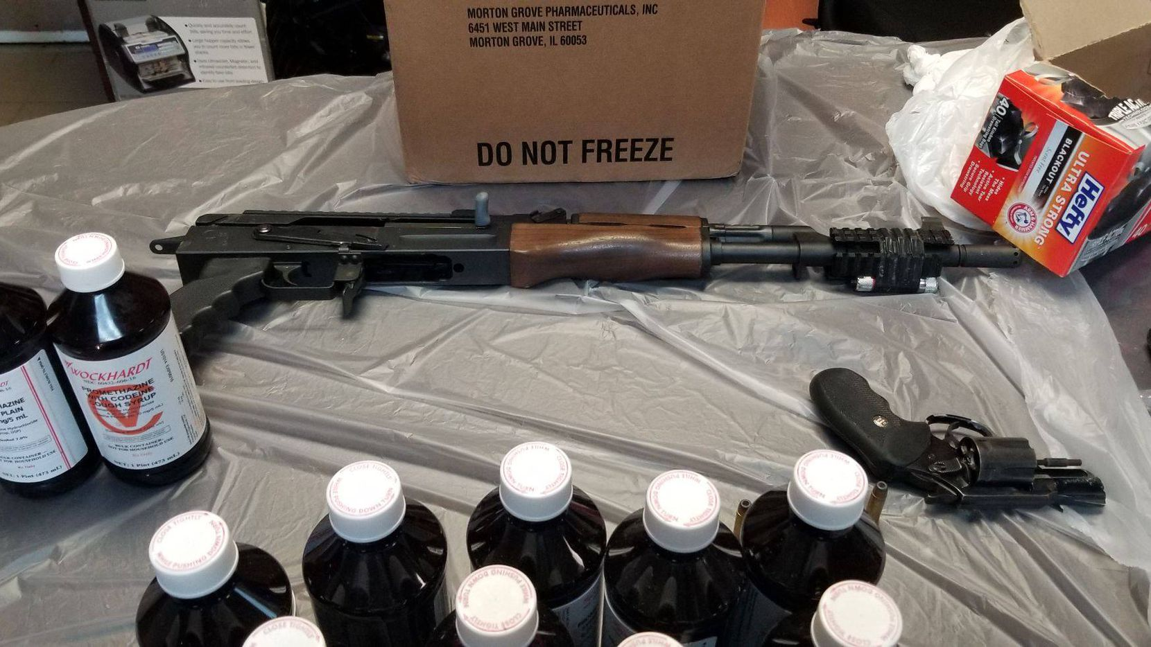 Evidence of illegal drugs and firearms recovered from the home of Anthony James Madrid