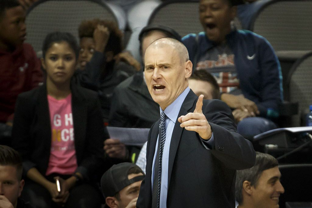 Dallas Mavericks head coach Rick Carlisle calls in a play during the second half of an NBA preseason basketball game against the Chicago Bulls at American Airlines Center on Wednesday, Oct. 4, 2017, in Dallas. (Smiley N. Pool/The Dallas Morning News)