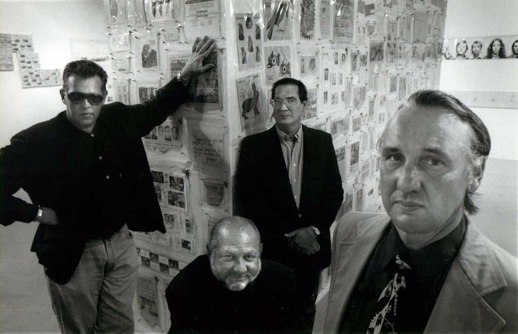 The artists who came to be known as the Oak Cliff 4 were (from left) Jack Mims, Bob Wade, George Green and Jim Roche.
