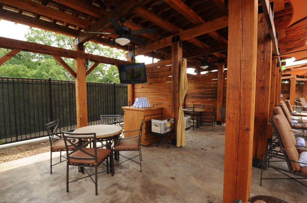 Guests can rent private cabanas featuring wifi, a server, and mini refrigerator at Paradise Springs at Gaylord Texan in Grapevine, TX on June 12, 2016. (Alexandra Olivia/ Special Contributor)