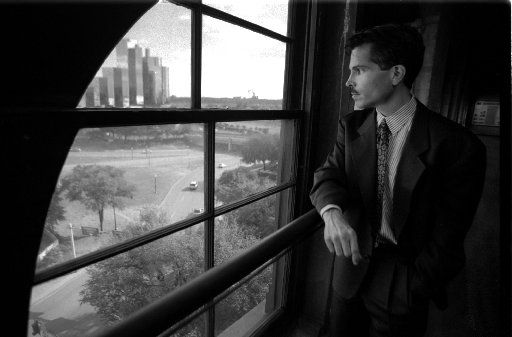 Author Gerald Posner, on the sixth floor of the former Texas School Book Depository, wrote the book Case Closed about the Kennedy assassination. (The Dallas Morning News Archives)