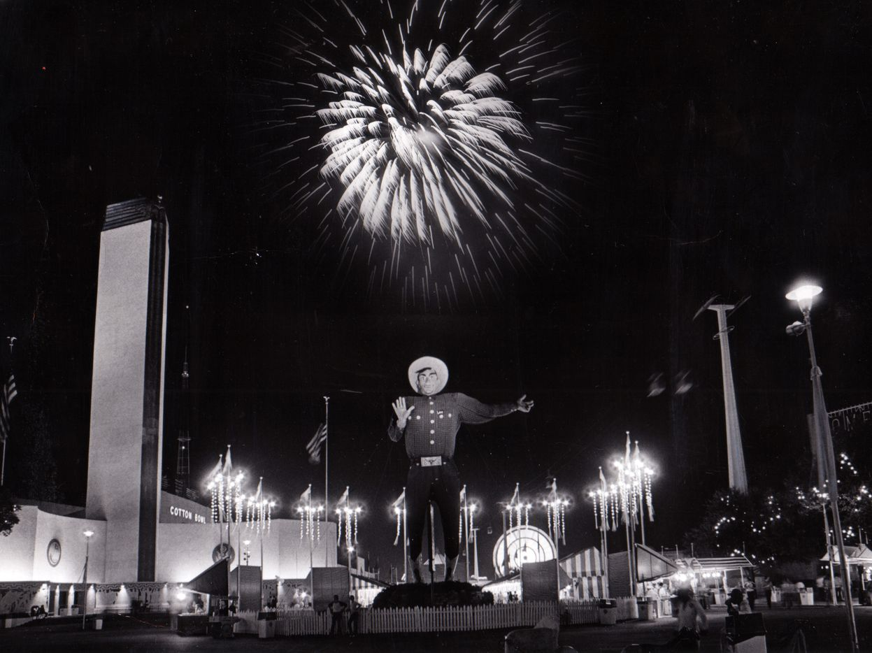 Big Tex and fireworks in 1974