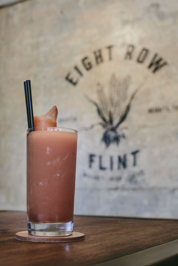 The Lula May Shandy is a favorite specialty cocktail at Eight Row Flint, a popular watering hole in Houston's Heights neighborhood.