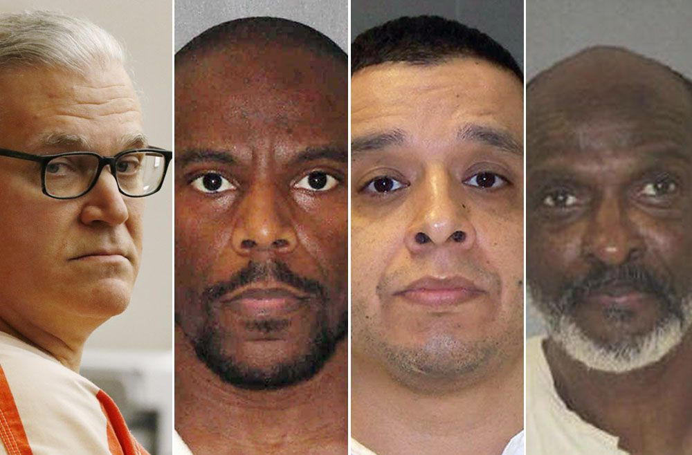 From left: John Battaglia, Alvin Braziel Jr., Joseph Garcia and William Rayford were all executed this year. Each was convicted of capital murder in Dallas County.