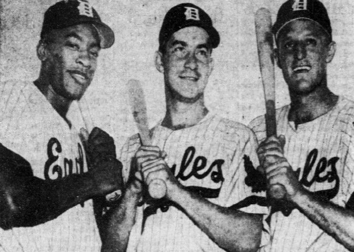 From left: Dallas Eagles teammates Bill White, Dick Getter and Ray Murray in a 1955 photo