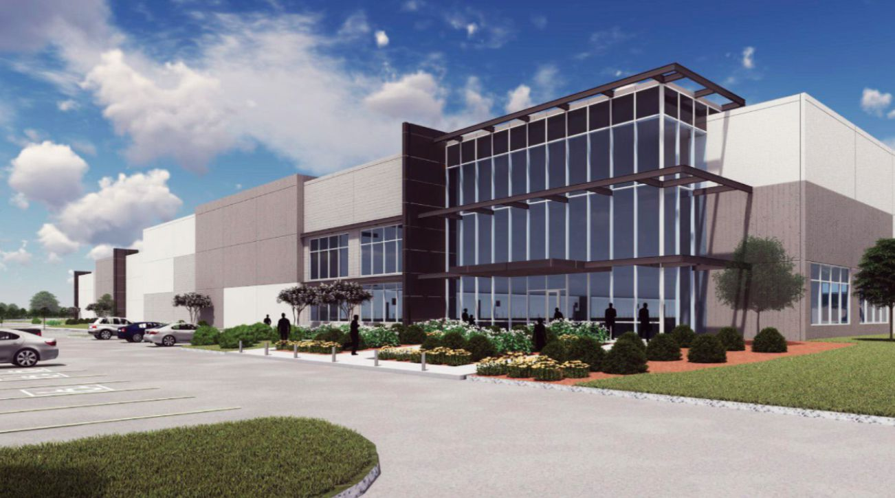 An artist's rendering of what the warehouse and distribution project at Mountain Creek Business Park would look like when complete.