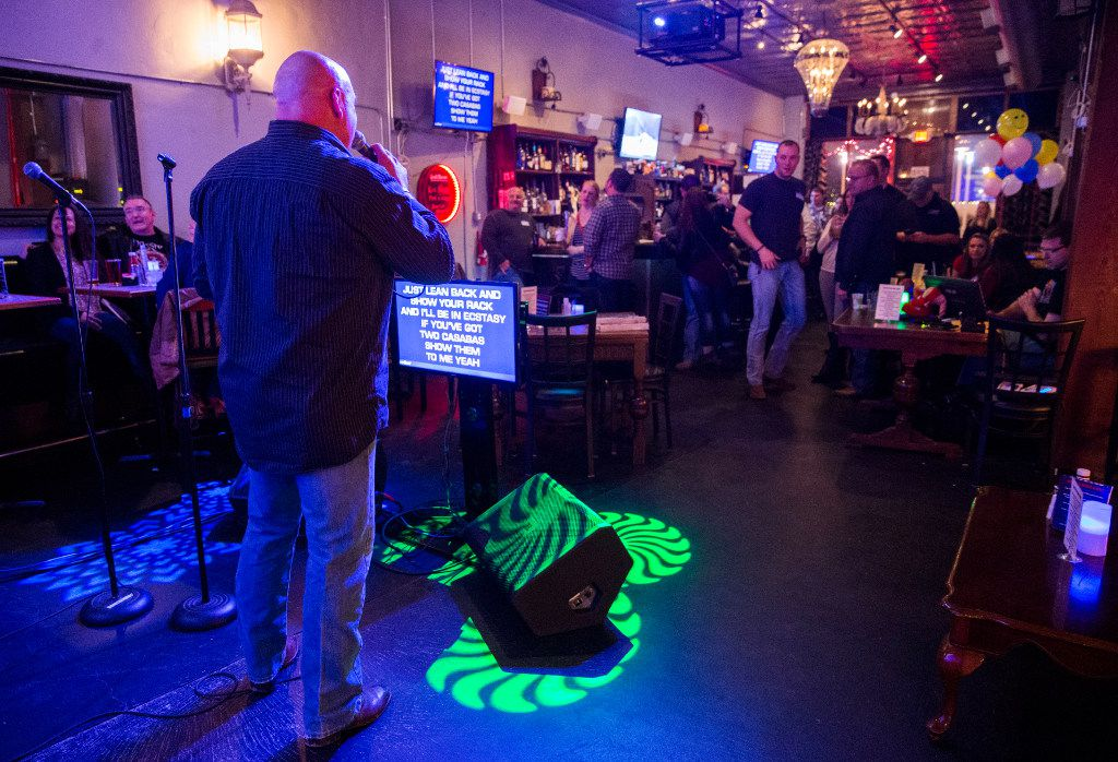 James Bristo sings karaoke at Expo Bar Dallas across the street from Fair Park on Saturday, January 28, 2017 on Parry Avenue in Dallas.