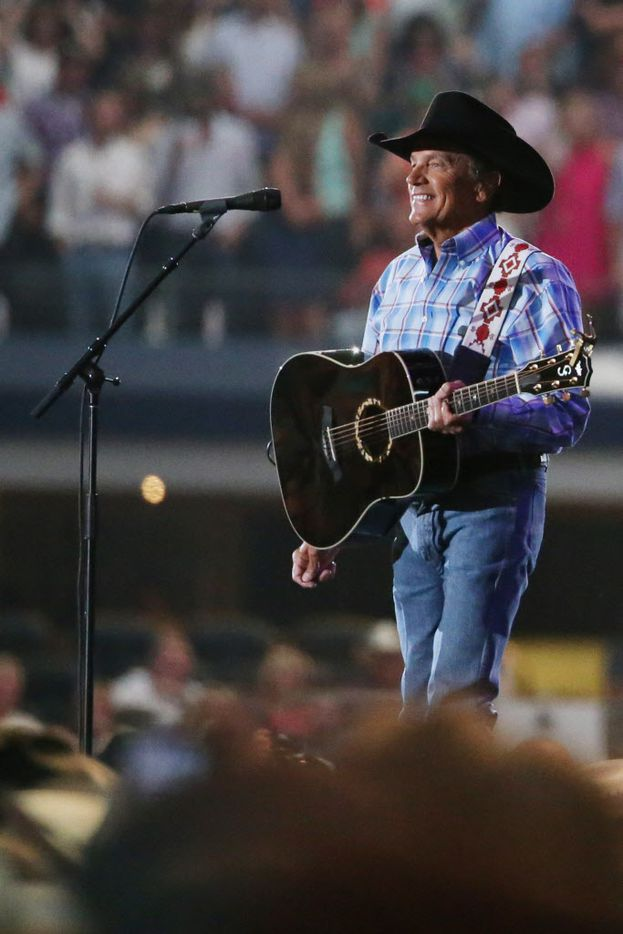 George Strait plays the last show of his final tour at AT&T Stadium in Arlington, Texas on June 7, 2014.