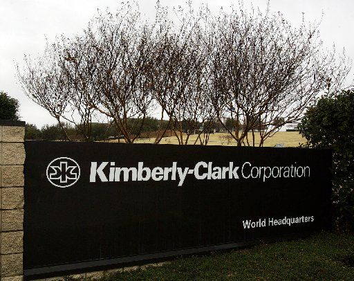 The entrance sign to Kimberly-Clark Corporation world headquarters campus in Irving.