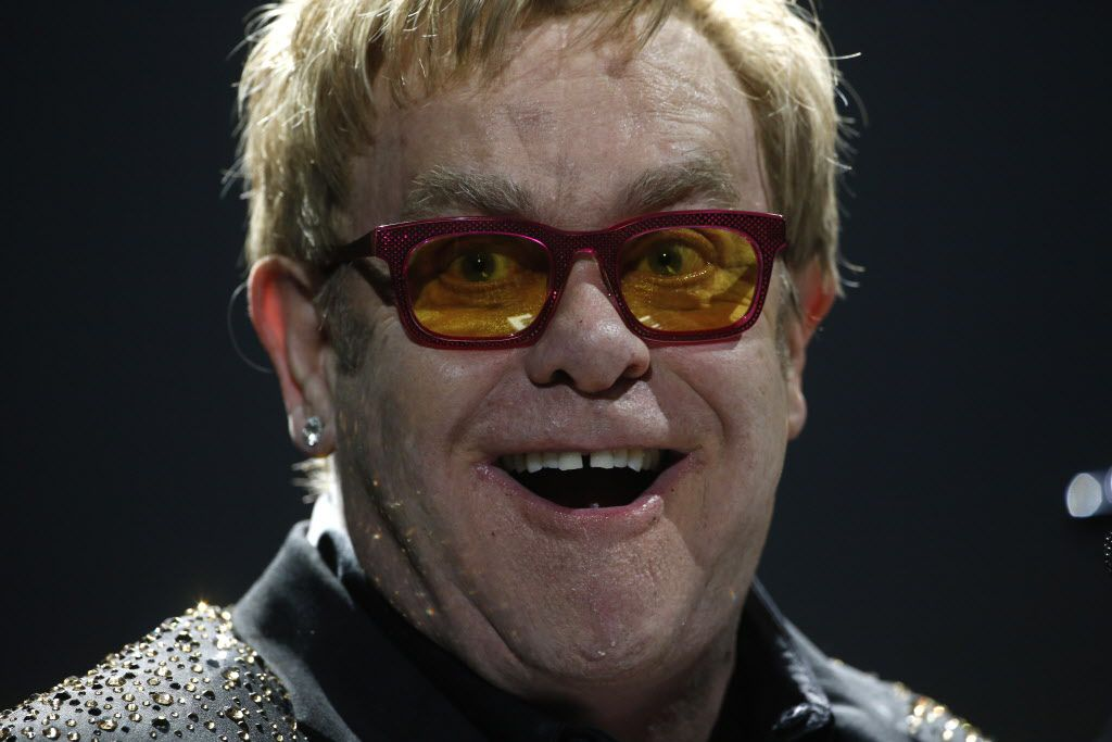 March 13, 2014: Elton John performs at American Airlines Center in Dallas.