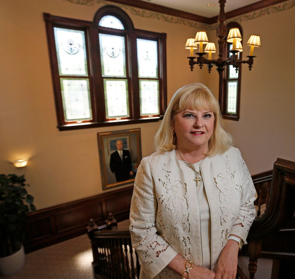 Linda Perryman Evans is pictured at the Meadows Foundation in Dallas on Thursday, June 28. She has announced her retirement from the foundation.