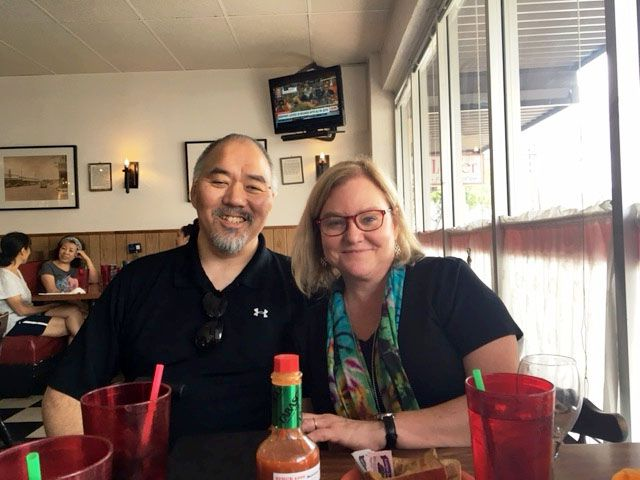Jacquielynn Floyd and Mike Hashimoto in Honolulu this year.