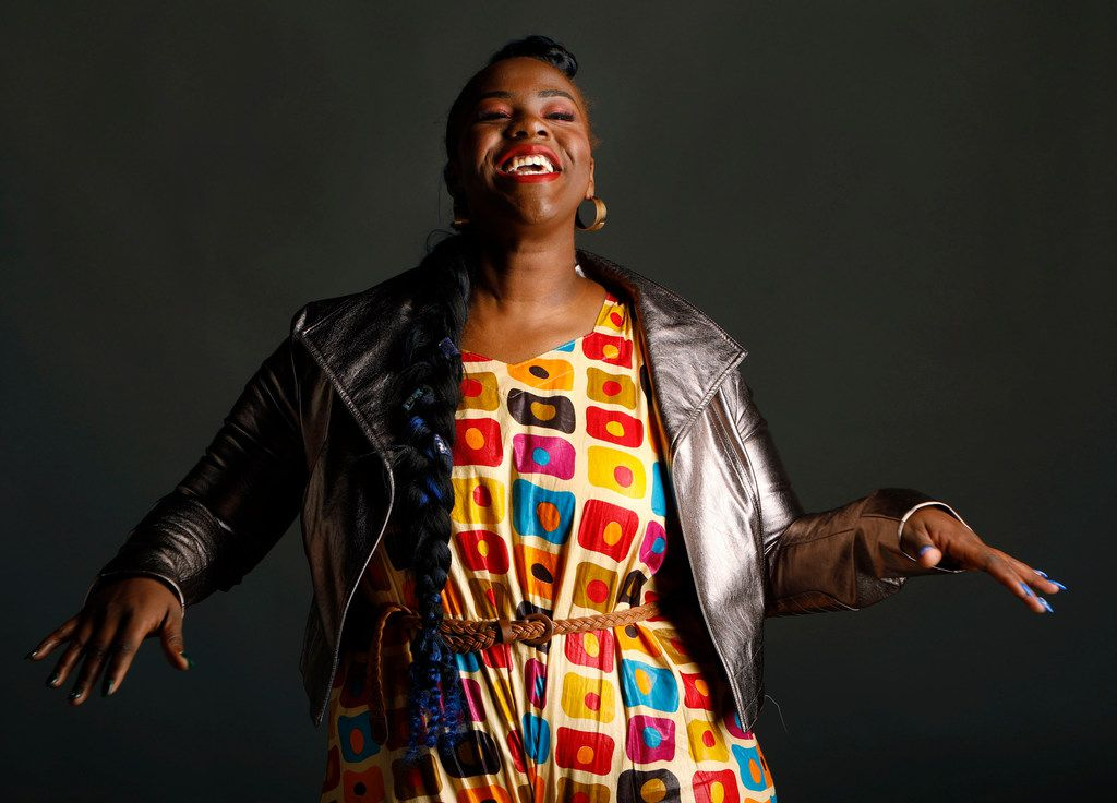 Ivy Awino, better known as DJ Poizon Ivy, has made a career being a DJ who loves basketball. She's combined the two and is the Dallas Mavericks' official DJ. She stopped by The Dallas Morning News photo studio on Jan. 25, 2018, for a celebratory portrait.
