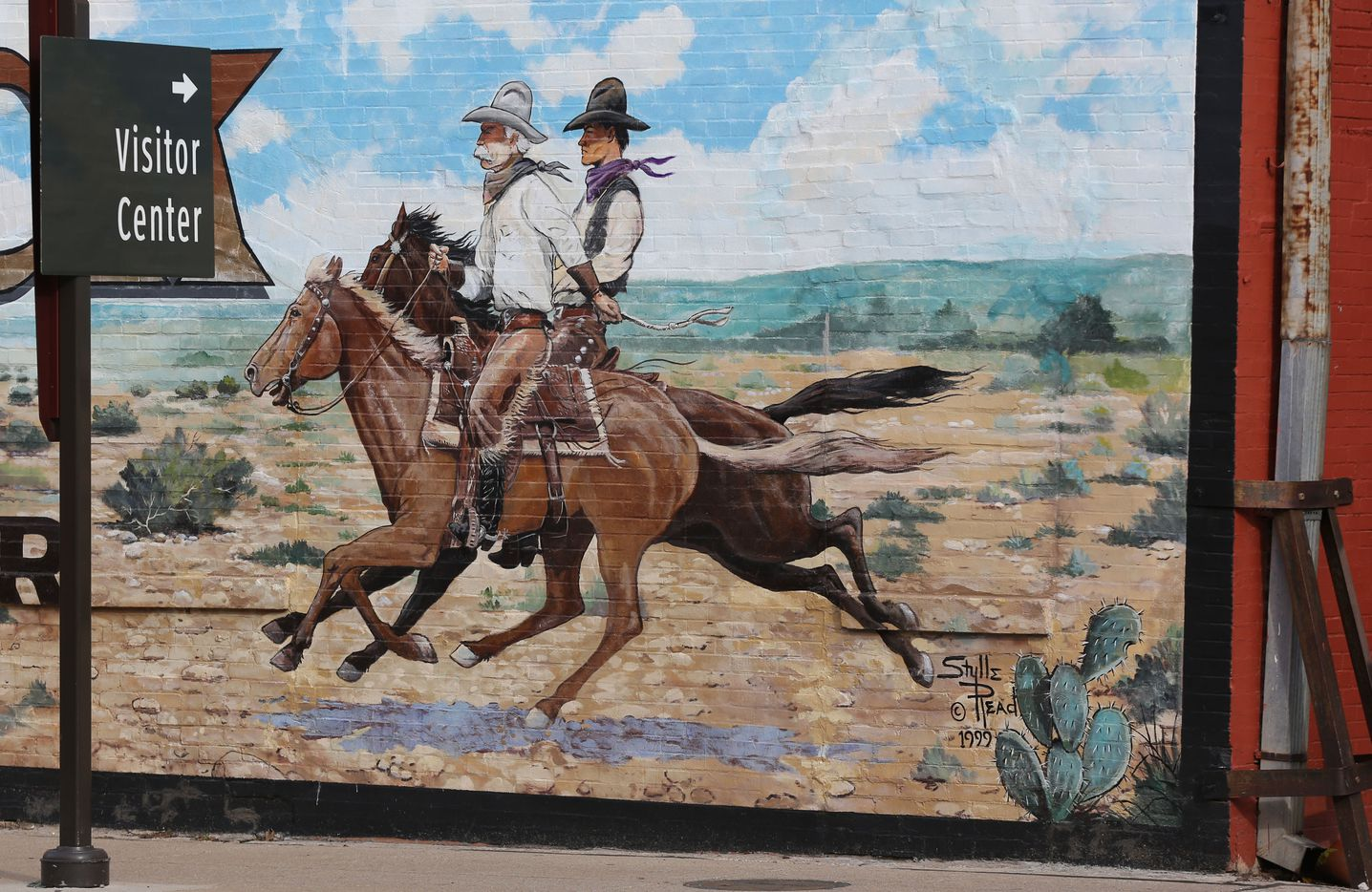 A mural in the Fort Worth Stockyards, known for its restaurants and entertainment venues.