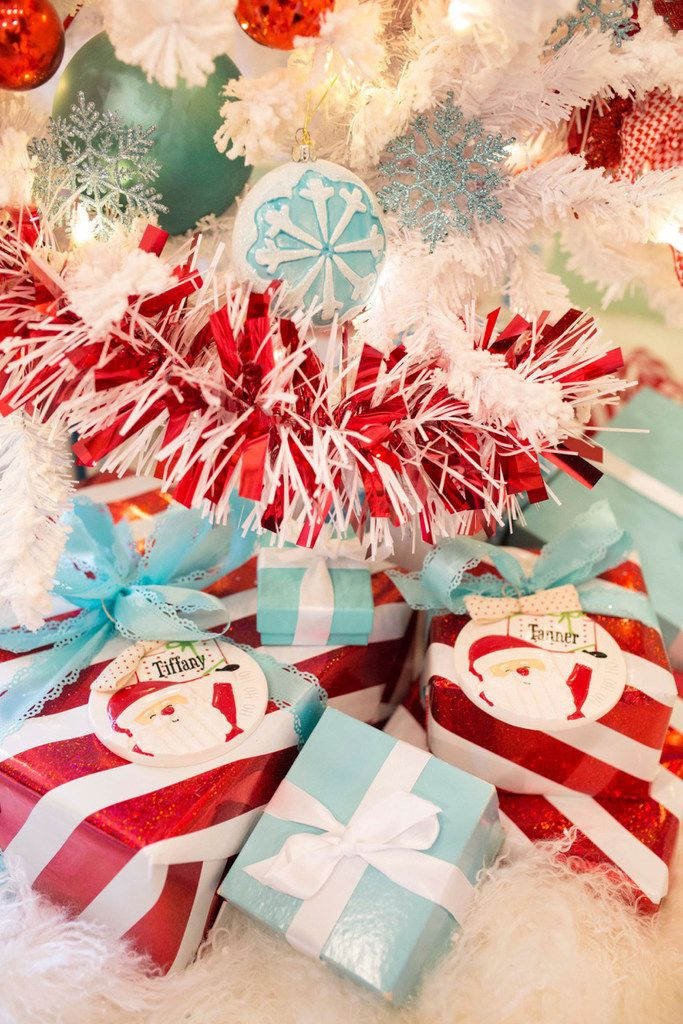 Here's a close-up of some of the presents under the tree.