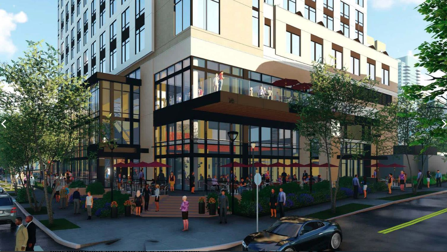 The new Marriott Hotel will be at Fairmount and Carlisle streets.