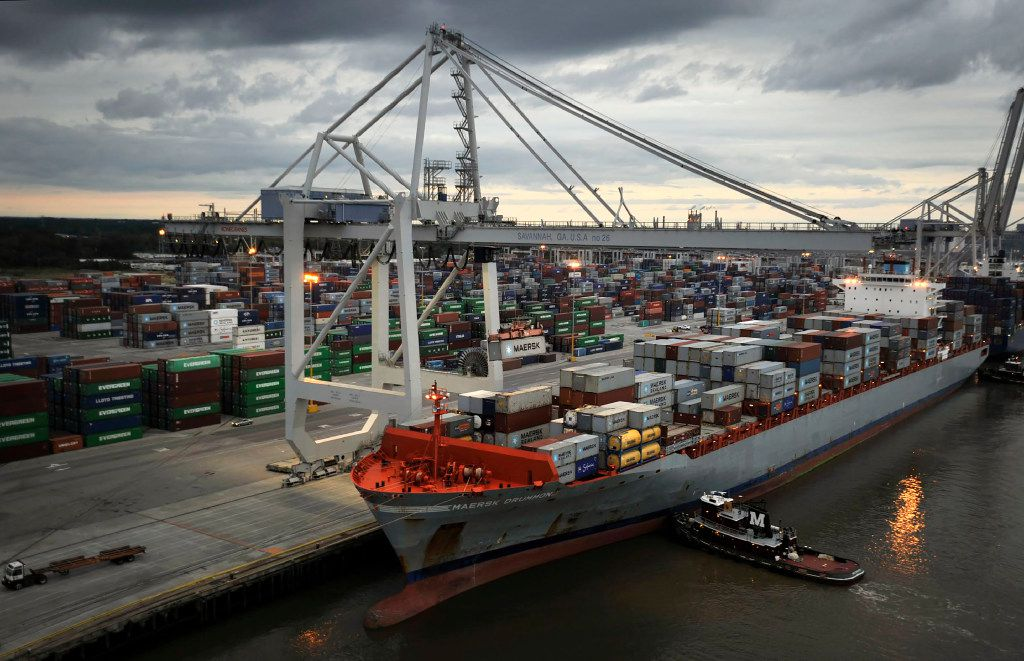 A container ship is loaded with cargo at the Port Savannah Garden City Terminal in Garden City, Ga. Peter J. Taylor contends that skill-building programs need to be written into any comprehensive jobs package. (File Photo/The New York Times)