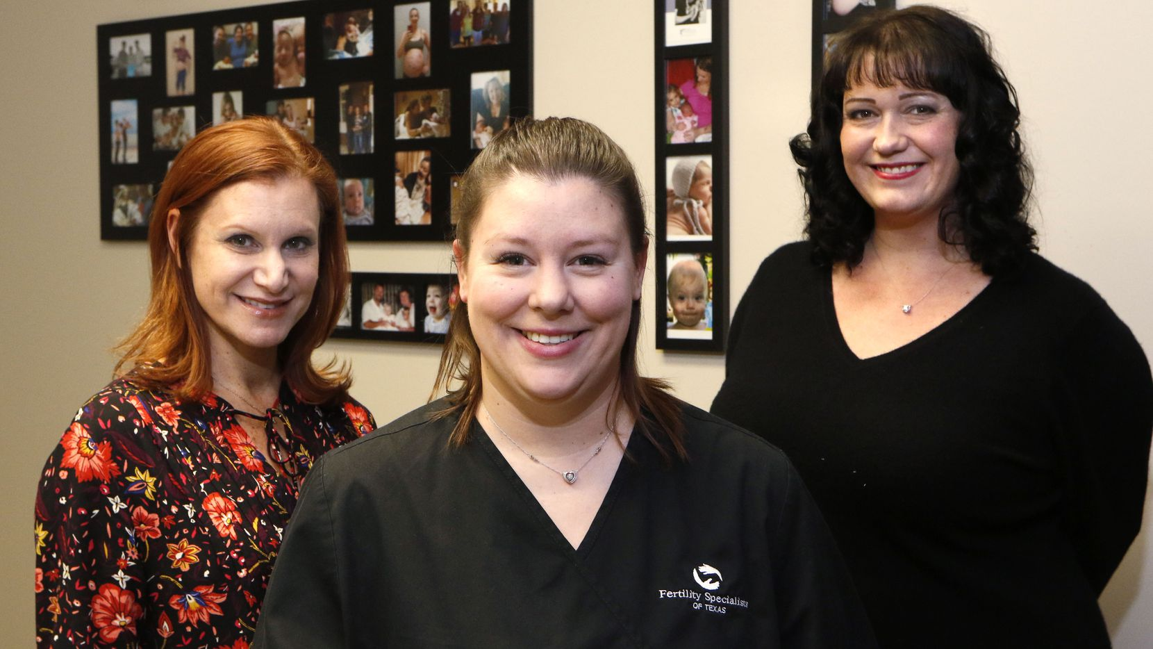 Ashley Moore (center) of Rockwall, a surrogate who is currently pregnant for a couple; Jill Errera (left) of Dallas, who has been a surrogate four times; and Stephanie Scott, co-owner of Simple Surrogacy, who has also has been a surrogate.