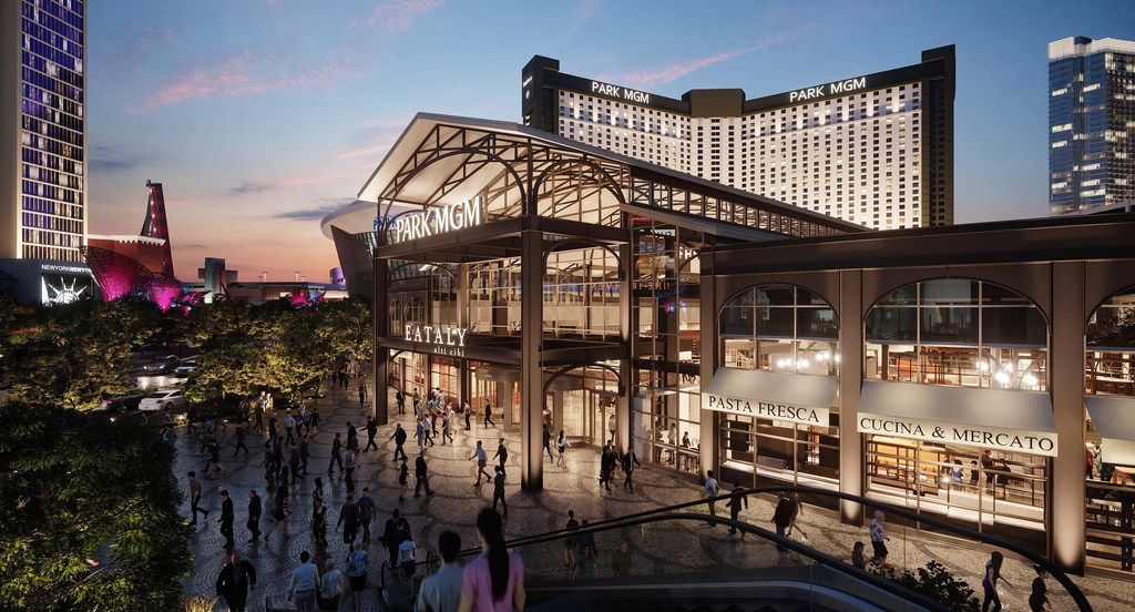 Eataly Las Vegas will serve as the grand entrance to Park MGM and its boutique Nomad hotel.