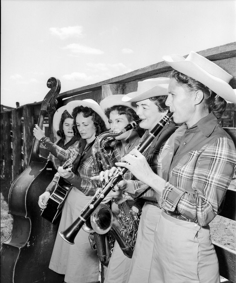 The Goree All-Girl String Band performs at the Texas Prison Rodeo in Huntsville. The group was immensely popular both behind bars and among fans in the community.
