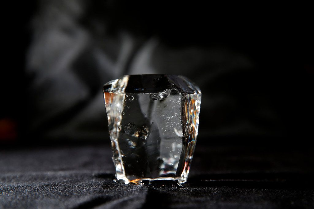 Hirano's finished ice diamond  (Jae S. Lee/The Dallas Morning News)