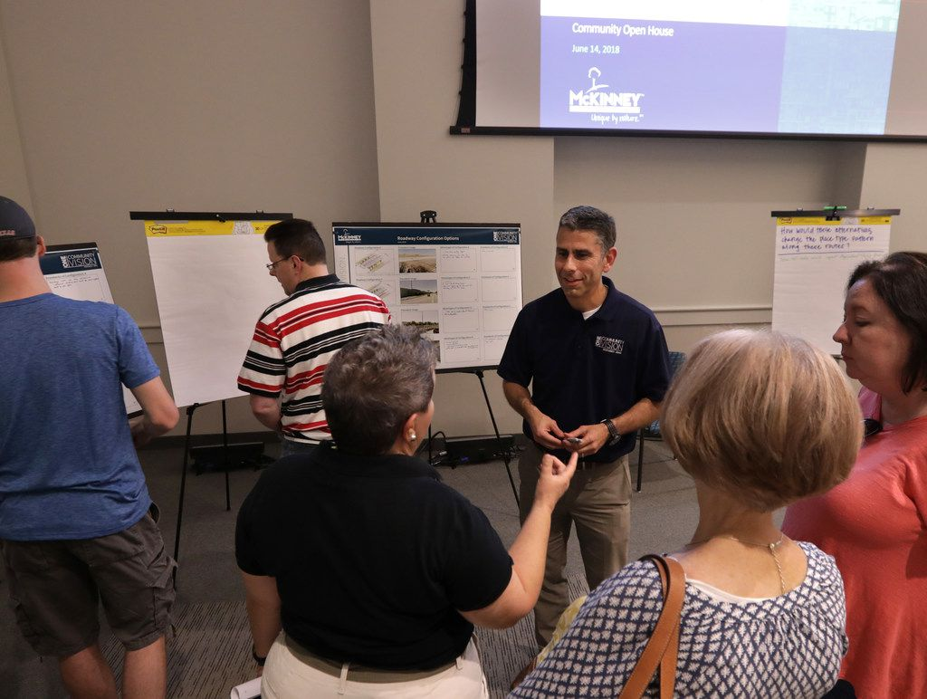 The city of McKinney holds an open house for residents during its ONE McKinney 2040 Comprehensive Plan presentation on Thursday at Collin College Conference Center in McKinney.