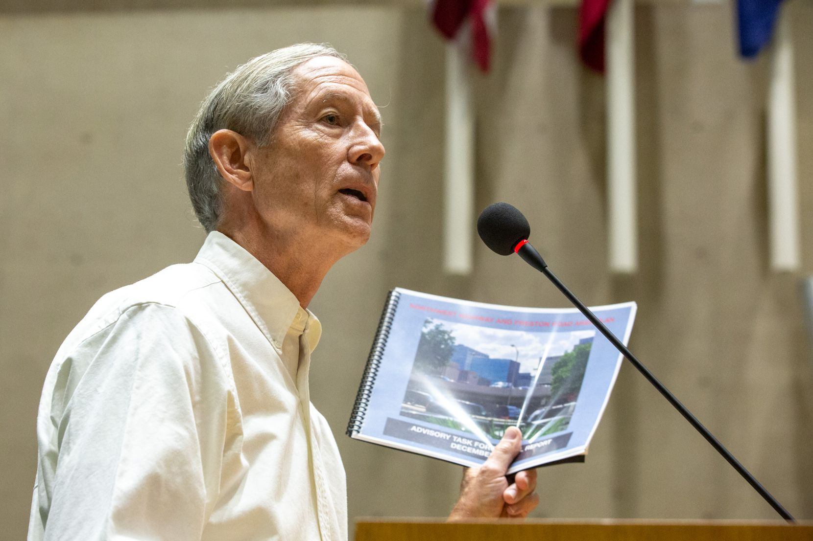 Steve Dawson speaks in opposition to Planned Development 15 at the city council meeting on Wednesday, Sep. 11, 2019, at Dallas City Hall.