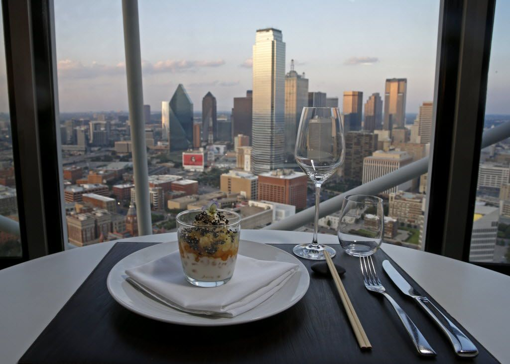 The views of Dallas from Five-Sixty by Wolfgang Puck are nothing short of spectacular.
