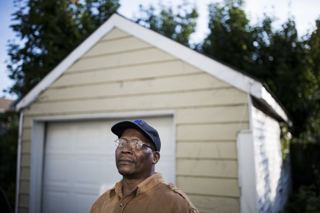 Joseph Washington of Queens, 53, is one of four black homeowners in New York who filed a federal suit in that state against Lone Star Funds in Dallas. (Damon Winter/The New York Times)