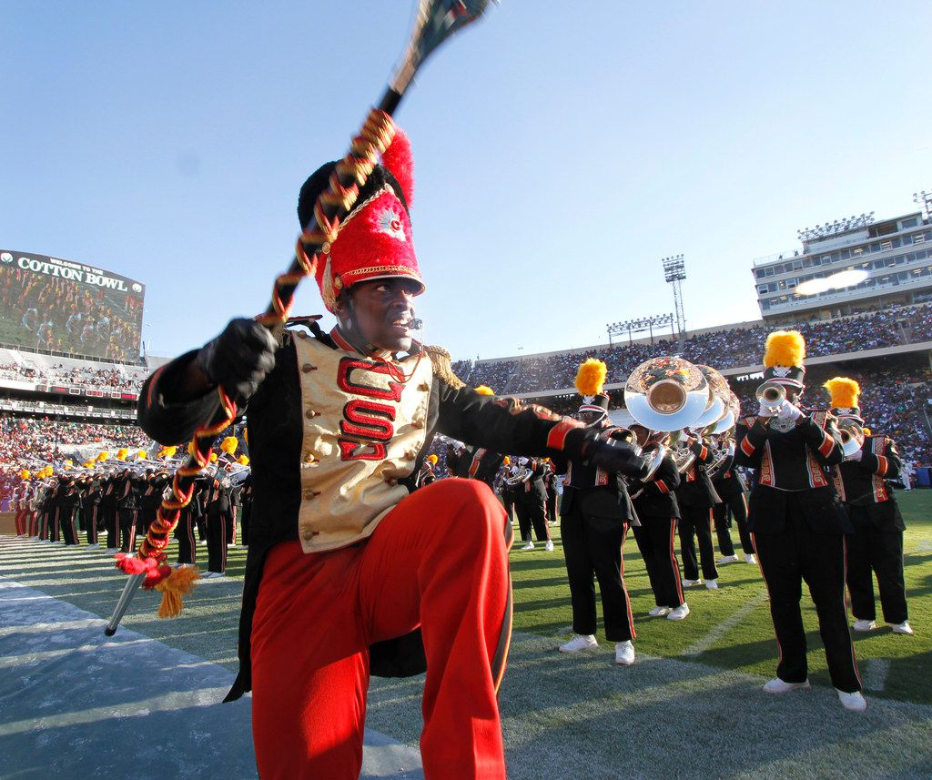 The Grambling State band performed during halftime of the State Fair of Texas Classic showcasing the football and band talents of Prairie View A&M and Grambling State. The State Fair Classic football game was played in the Cotton Bowl in Dallas on Oct. 7, 2017.