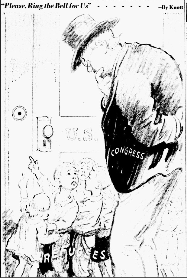 Cartoon featured in the July 7, 1939 edition of The Dallas Morning News.