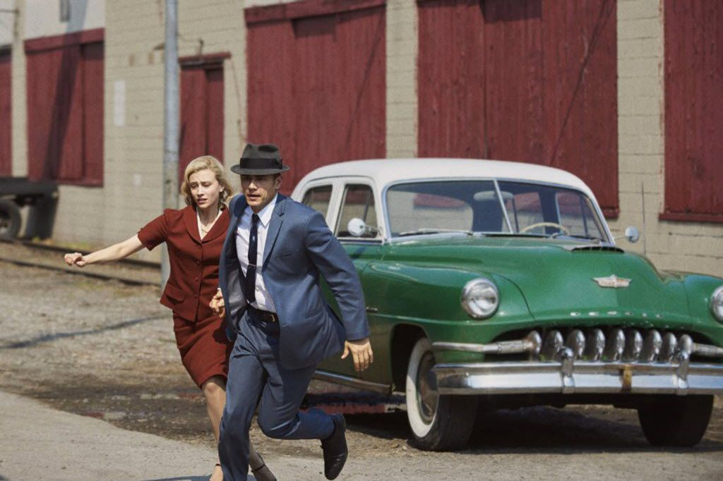 "James Franco and Sarah Gadon in ""11.22.63."" (Alex Dukay/Hulu)"