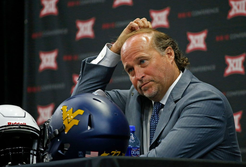 West Virginia head football coach Dana Holgorsen speaks during Big 12 Media Days at Ford Center at The Star in Frisco, Texas, Tuesday, July 17, 2018. (Jae S. Lee/The Dallas Morning News)