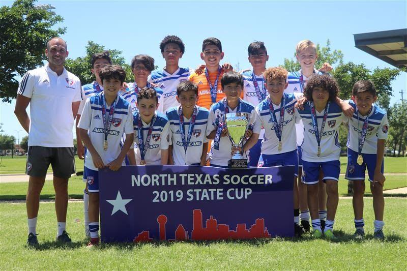 13-Under Boys: FC Dallas 06 Premier se consagró campeón de su categoría Sub-13 en la 2019 North Texas Soccer State Cup.