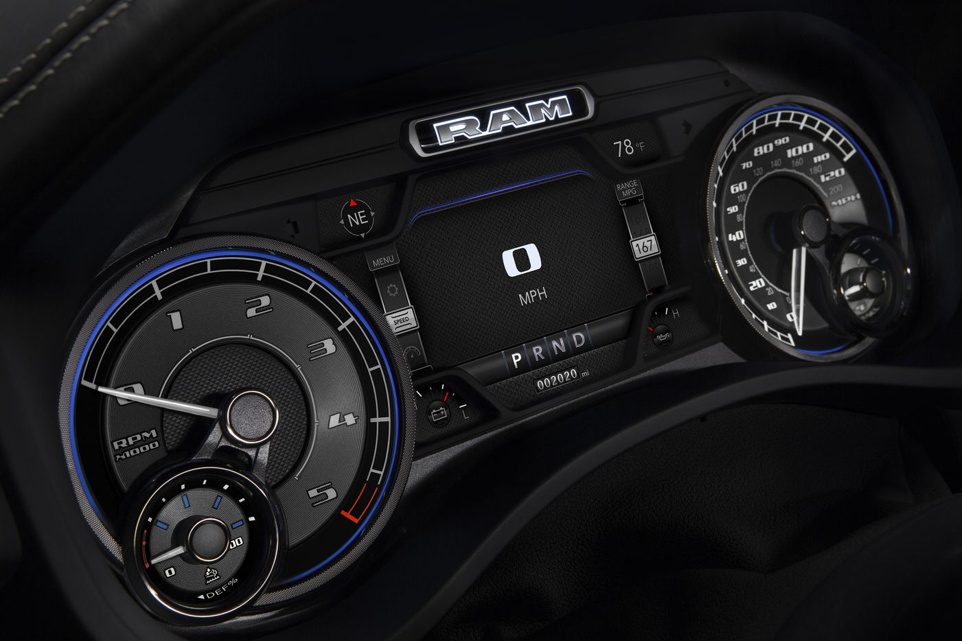 2020 RAM 1500 EcoDiesel Limited Cluster