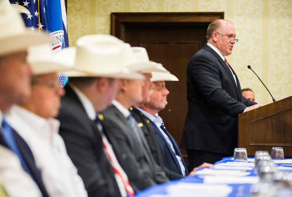Thomas Homan, acting ICE director, appeared at this week's convention in Grapevine of the Sheriffs' Association of Texas.