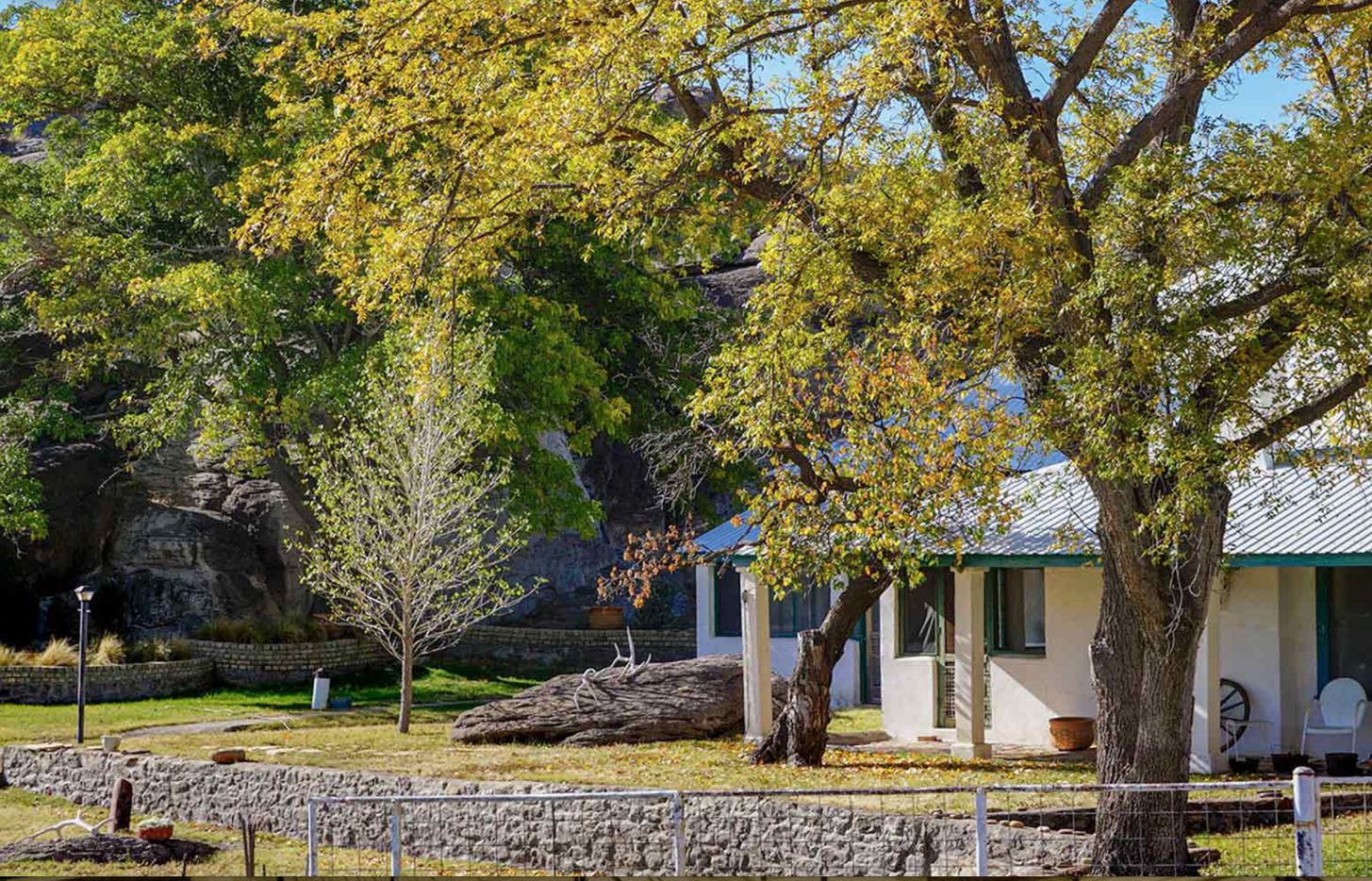 Gearhart Ranch near Fort Davis has a main ranch house and foreman's house.