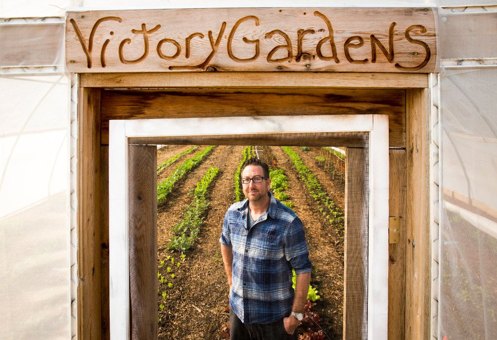 Nick Burton, photographed in a high tunnel greenhouse at Paris Victory Gardens in Paris, Texas, started State of the Soil to help other farmers start and grow their businesses.