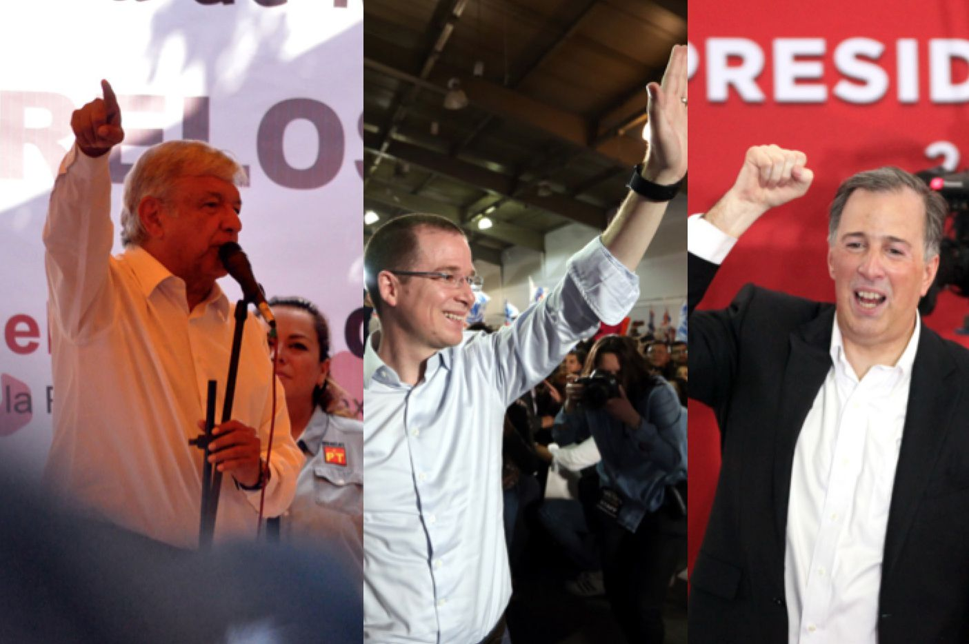Andrés Manuel López Obrador (left), who has run twice before and is now campaigning as the populist founder of the Morena party, is the early favorite in the Mexican presidential race. He is followed by Ricardo Anaya of the National Action Party, or PAN, and former Finance Minister Jose Antonio Meade of the Institutional Revolutionary Party.