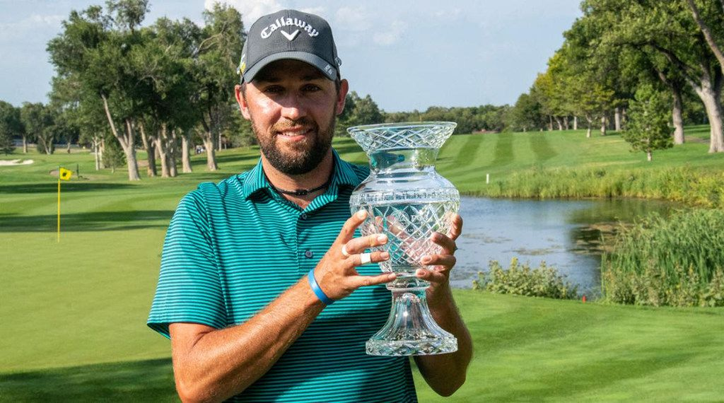 Shane Pearce, head professional at Hurricane Creek Country Club in Anna, Texas, won the Northern Texas PGA Joyce Crane / Veritex Bank Section Championship on the first hole of a playoff on Sept. 10, 2019, at Amarillo Country Club.  He earned an exemption into the 2020 AT&T Byron Nelson with the victory.