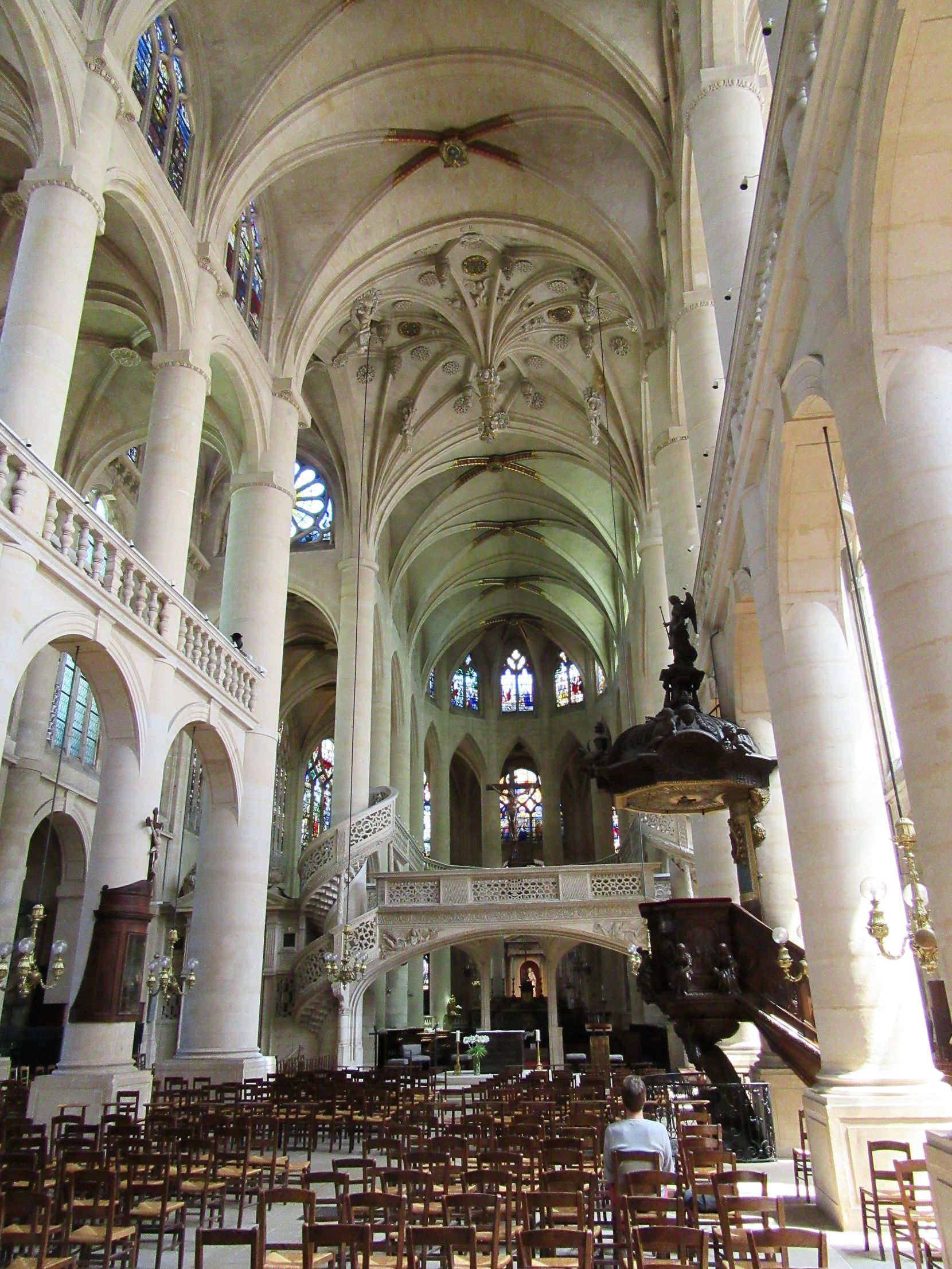 The Church of St. Etienne-du-Mont in Paris, where Maurice Duruflé and his wife Marie-Madeleine Duruflé-Chevalier were co-organists.