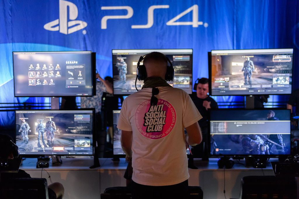 Gamers compete during Day One at Call of Duty World League Finals 2019 at the Miami Beach Convention Center on July 19, 2019, in Miami.